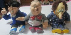 SPUMCO THE THREE STOOGES T V PALS DOLLS 22 INCH  1996 TAG CLEAN  EXCELLENT  #SPUMCO
