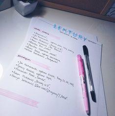 Handwritting, Notebook Ideas, Note Taking, Organizing, Journaling, Bullet Journal, Polish, Notes, Study