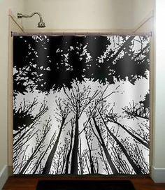 custom any color tree shower curtain bathroom decor | my home ...