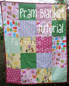 Today's {Sew} Get Started tutorial is for a cute pram blanket. Having covered some basic sewing skills in the first 3 tutes, today is ab...