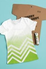 If you're trying to think of a summer project, why not create your own Chevron Tee? It's as easy as DIY!