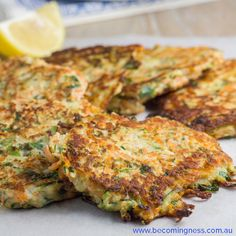 These Zucchini & Sweet Potato Fritters are gluten and dairy free and are suitable for Paleo. If you can't eat egg or are vegetarian or vegan, then you can replace the egg with mashed potato paleo breakfast pete evans Veggie Recipes, Gluten Free Recipes, Vegetarian Recipes, Cooking Recipes, Healthy Recipes, Gluten Free Cooking, Curry Recipes, Sweet Potato Fritters, Sweet Potato Slices