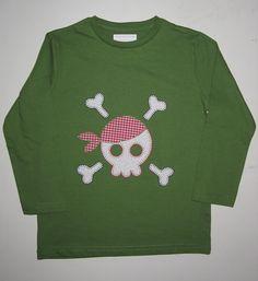 cocodrilova: camiseta calavera pirata