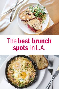 Your ultimate weekend morning guide to eating and drinking at the best brunch restaurants in Los Angeles.