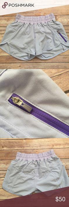Lululemon rare lavender tracker shorts Gorgeous rare color Lululemon lilac lavender light purple tracker shorts lululemon athletica Shorts