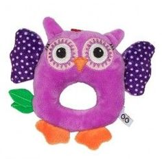 Zoocchini Baby Rattle in Purple Owl - Rattles Purple Owl, Baby Smiles, Travel System, Baby Rattle, Car Seats, Infant, Make It Yourself, Toys, How To Make
