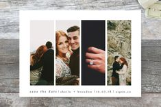 """""""Special Snapshots"""" - Classical, Modern Save The Date Cards in Charcoal by Bethan."""