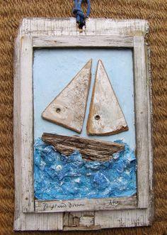 driftwood and papier mache boats