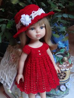 Crochet outfit Paola Reina 12 Corolle Les by dollcrochetboutique