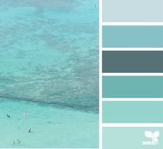 bet this would be a prettty sponge painted group { waikiki blues } image via: @thebungalow22