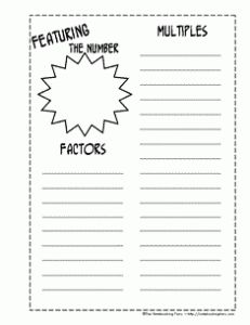 factors and multiples notebooking pages from The Notebooking Fairy--Site has lots of ideas too