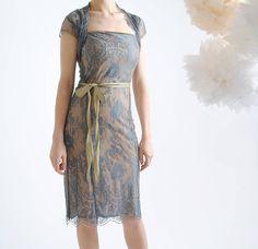 blue pearl olivia lace dress by nancy mac | notonthehighstreet.com