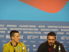 Director Justin Kelly and Actor James Franco at the press conference of 'I am Michael' this week. #Berlinale2015