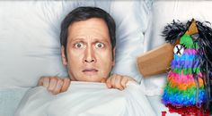 This is an actual promo picture for the CBS show ¡Rob! Didn't you know Mexicans sleep with pinatas?