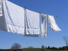 The Complete Guide to Imperfect Homemaking: Laundry Tip: Whiter Whites, Naturally El jugo de un limón añadido al agua de lavado caliente será notablemente iluminar tus blancos. El secado en la línea de ropa en un día soleado aumentará sus resultados. Es simple, pero funciona!