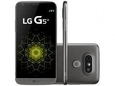 "Smartphone LG G5 SE 32GB Titânio 4G Câm. - 16MP + Selfie 8MP Flash Tela 5.3"" QHD…"