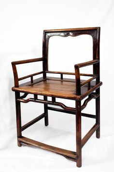 Rare Set Of Four Ming Dynasty 17th Century Rose Back Chairs