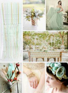 Mint & Gold wedding 1