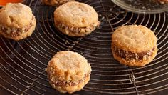 Crunchy chocolate-filled biscuits: With deliciously soft choc centres, these cookies are seriously dunkable.
