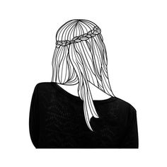 Untitled We Heart It ❤ liked on Polyvore featuring fillers, doodles, drawings and outline