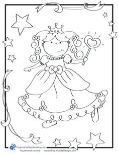 Pretty Princess Coloring Page Projects For Preschoolers