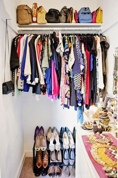 organized clothing closet shoes storage accessories