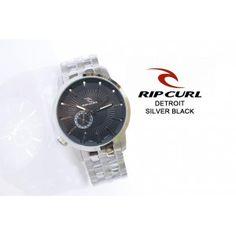 RIPCURL DETROIT SILVER BLACK  + BONUS BOX RIPCURL  TALI : ALL STAINLESS STEEL, GLOW IN THE DARK  TANGGAL AKTIF  Rp 600.ooo,-