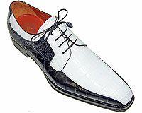 Mezlan Platinum Custom # 3798 at AlligatorWorld.com - Exotic Skin Shoes