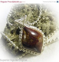 On Sale Rare Binghamite Wire Wrapped Small Stone by superioragates, $22.50