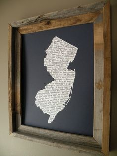 New Jersey In A Nutshell Word Art Map Print