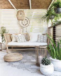 been having the most perfect days here on the Sunshine Coast. Perfect outdoor weather and this space is just?to relax, unwind and… Outdoor Rooms, Outdoor Living, Outdoor Decor, House And Home Magazine, Patio Design, Garden Design, Backyard Patio, Interior Design, Sunshine Coast