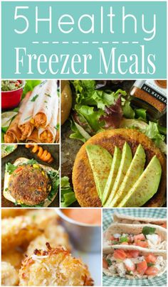 5 Healthy Freezer Meals - penniesintopearls.com - delicious and healthy freezer mills. Make ahead of time and don't think about dinner again. Get the recipes now!