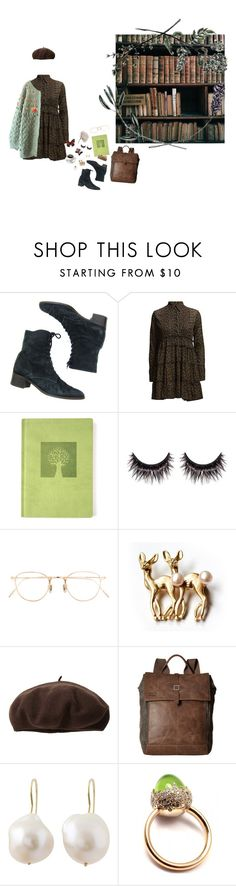 """""""Untitled #980"""" by crooked-dollhouse ❤ liked on Polyvore featuring Eccolo, MAKE UP FOR EVER, Eyevan 7285, Dorfman Pacific, TOMS, Natasha Sherling and Pomellato"""