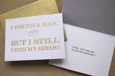 how to ask your bridesmaids... too cutE!