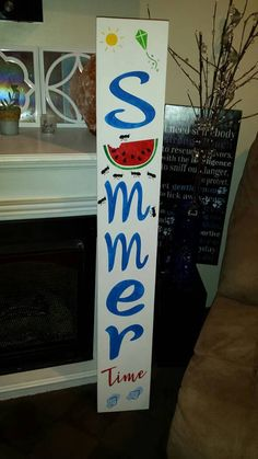 Summer Porch Makeover with Valspar Paint Colors Barn Wood Signs, Wooden Signs, Summer Diy, Summer Crafts, Summer Porch Decor, Porch Paint, Summer Signs, Holiday Signs, Holiday Ideas
