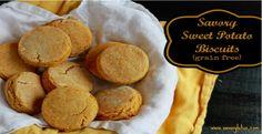 Savory Sweet Potato Biscuits   Grain-free. Uses almond flour, arrowroot powder  2 eggs