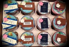 Traveling themed cupcakes
