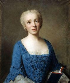 Portrait of Marie-Rose de Larlan de Kercadio de Rochefort Marquise des Netumieres, 1750 by Jean Etienne Liotard, Detroit Institute of Arts