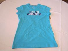 Nike active t shirt youth M girls v neck behold Awesome 576970 454 sptcas NWT^^