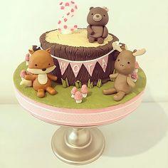 Woodland Cake Woodland Cake, Snow Globes, Desserts, Kids, Food, Decor, Tailgate Desserts, Young Children, Deserts