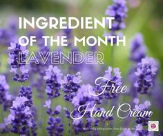 Our ingredient of the Month is Lavender and to celebrate this month, our gift to you is a free Lavender Hand Cream (50ml valued at $15) with every eShop order. Taking care of you, your skin and your environment.  Offer available from 1 June to 30 June 2016.
