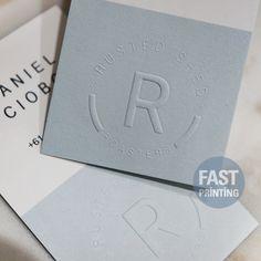 embossed Finish card! #fastprinting #embossed #embossing  #FP