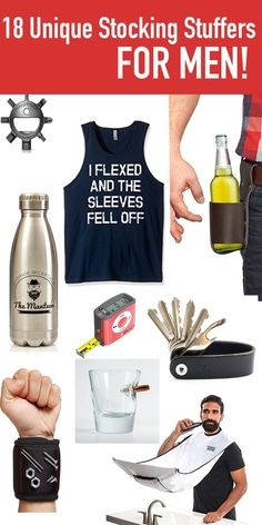 YES! LOVE THESE! That beer holder and the Beard Bib kill me... I know my husband would love these as Christmas gifts or stocking stuffers!!! Check them out!