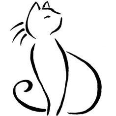 Yet another line kitty pose by CB-Dragoness ❤ liked on Polyvore featuring home, home decor and cat home decor