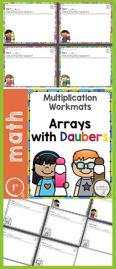 Dabbing is loads of fun. Mix that with creating multiplication arrays and you have a combination for some great fact practice! There is a PDF for each fact family and a mixed math activity that has the students determine the fact statement based on 3rd Grade Math, Fourth Grade, Grade 1, Second Grade, Multiplication Facts Practice, Multiplication Strategies, Writing Lessons, Math Lessons, Math Resources