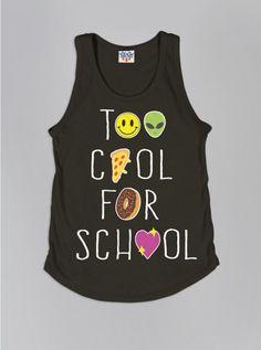 Kids Girls Too Cool For School Tank - New Arrivals - Kids Girls - Kids