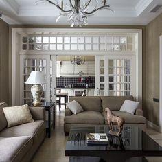 Квартира с американской мебелью и теплой колористикой: