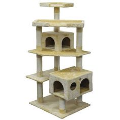 "Go Pet Club 61"" Cat Tree Color: Beige"