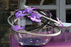 Aquarium et vanda Compositions de buffet #mariage #fleurs #francefleurs