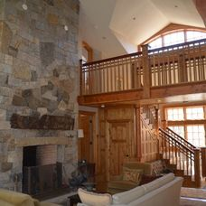 #marthasvineyard #fireplace #dreamhouse #roselovesrealestate eclectic living room by Wood and Stone, LLC www.roselovesrealestate.com